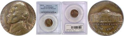 1959-D. PCGS. MS-64. BN. Nickel. Wrong Planchet.