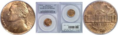 1999-D. PCGS. MS-62. RD. Nickel. Wrong Planchet.