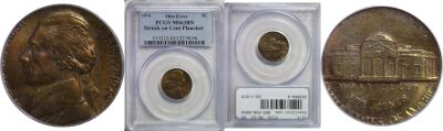 1974. PCGS. MS-63. BN. Nickel. Wrong Planchet.
