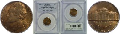 1976-D. PCGS. MS-63. Nickel. Wrong Planchet.