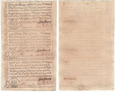 December 1771. NC. Uncut Sheet. CCU.
