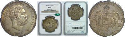 1883. Dollar. NGC. AU-58.