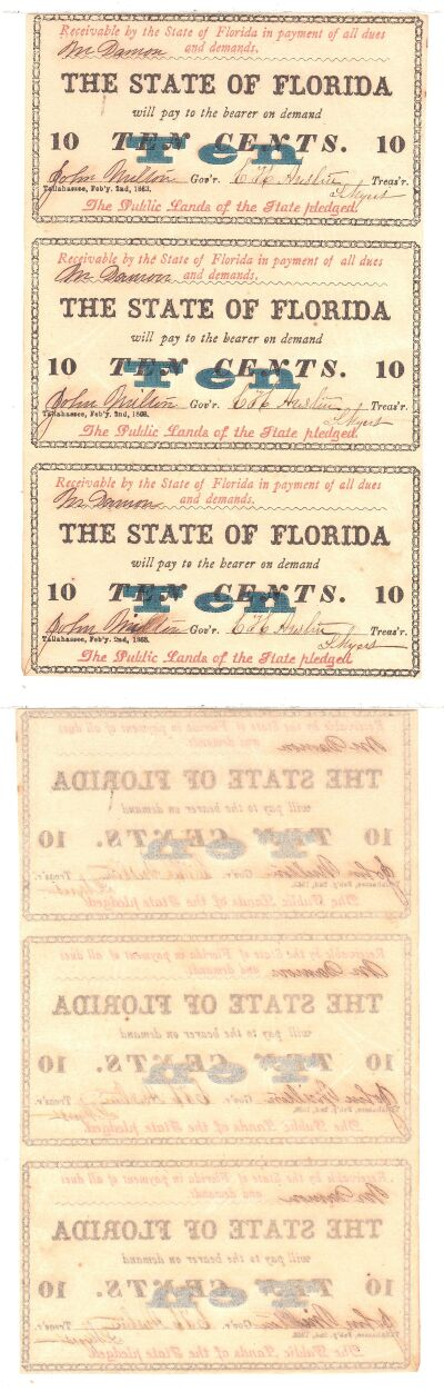 1863. 10c. CAU. FL.