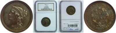 1854. Cent. NGC. PF-66. BN. J-160.