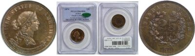 1870. Quarter. PCGS. PR-65. RB. J-914.