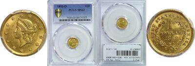 1852-O. PCGS. MS-63.