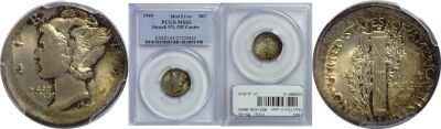 1944. PCGS. MS-65. Dime. Off-Center.