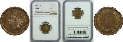 1862. NGC. PR-64.