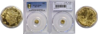 1867. PCGS. MS-66. California Fractional Gold.