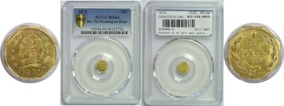 1872. PCGS. MS-64. California Fractional Gold.