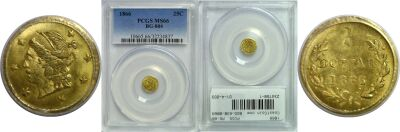 1866. PCGS. MS-66. California Fractional Gold.