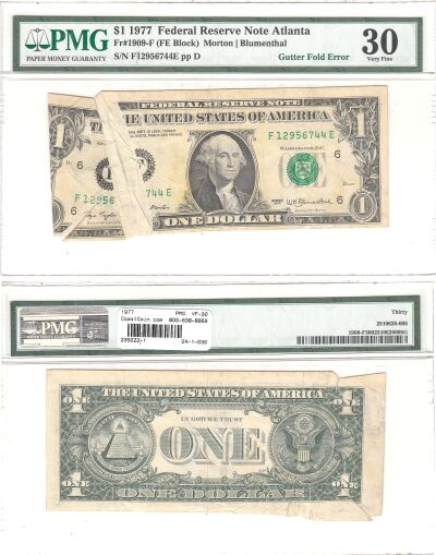 1977. $1. PMG. VF-30. Federal Reserve Note.