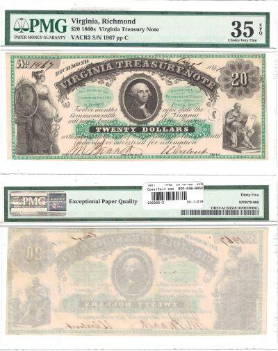1861. $20. PMG. Ch VF-35. EPQ. VA.