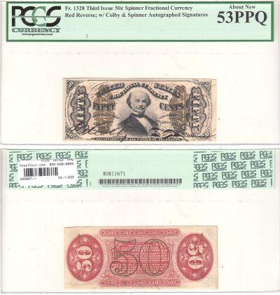 50c. 3rd Issue. PCGS. AU-53. PPQ. F-1328.