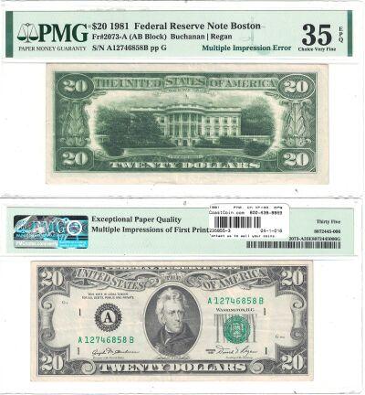 1981. $20. PMG. Ch VF-35. EPQ. Federal Reserve Not