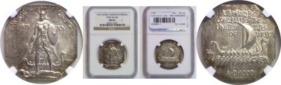 1925. NGC. MS-62. Norse-American.