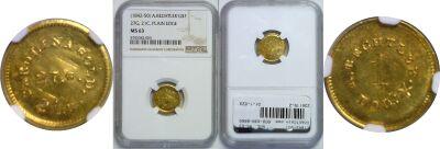 (1842-50). NGC. MS-63. A. Bechtler $1.