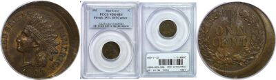 1903. PCGS. MS-64. BN. Cent. Off-Center.