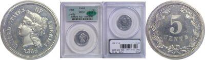 1868. Nickel. PCGS. PR-62. J-629.