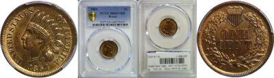 1864 Bronze. PCGS. MS-65+. RB.