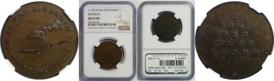 (1792-94). Kentucky Token. NGC. MS-63. BN.
