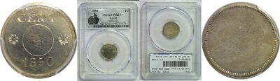 1850. Cent. PCGS. PR-65+. J-124g.