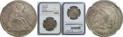 1871-CC. NGC. Genuine.