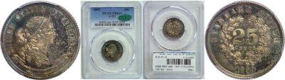 1869. Quarter. PCGS. PR-66+. J-727.