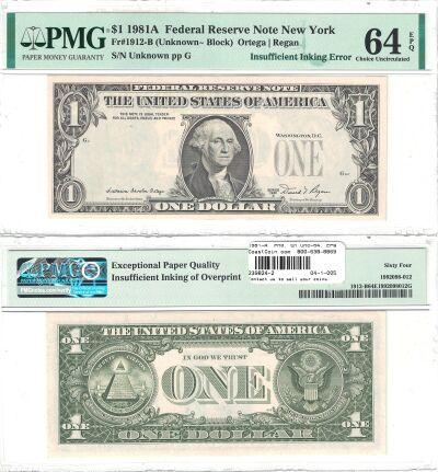 1981-A. $1. PMG. Ch Unc-64. EPQ. Federal Reserve N