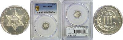 1861. PCGS. PR-65.