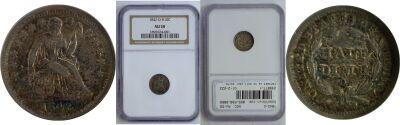 1842-O. NGC. AU-50.