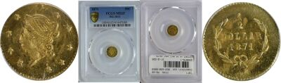 1871. PCGS. MS-65. California Fractional Gold.