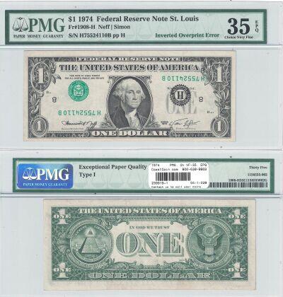 1974. $1. PMG. Ch VF-35. EPQ. Federal Reserve Note