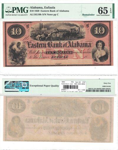 1859. $10. PMG. Gem-65. EPQ. AL.