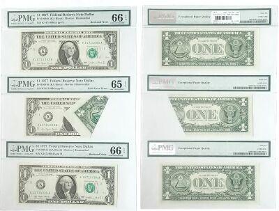 1977. $1. PMG. Gem-65. EPQ. Federal Reserve Note.