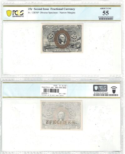25c. 2nd Issue. PCGS. Ch AU-55. F-1283SP.