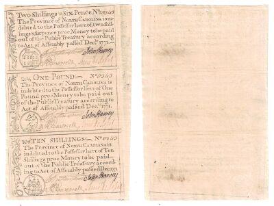 12/1771. NC. Uncut Sheet. CU.