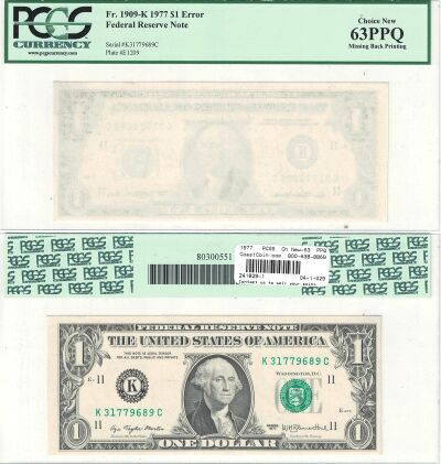 1977. $1. PCGS. Ch New-63. PPQ. Federal Reserve No