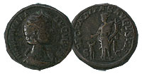222-235 AD. Bronze As. VF. Julia Mammaea.