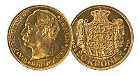 1908-1912. Denmark. 20 Kroner. CBU.