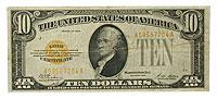 1928. $10. VF. Gold Certificate.
