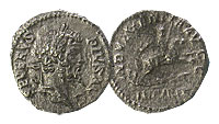 193-211 AD. Silver Denarius. XF+. Septimius Severu