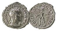 222-235 AD. Silver Denarius. XF. Severus Alexander