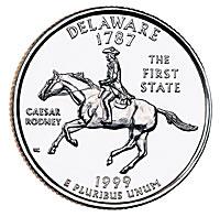 1999-D. Select BU. Delaware.