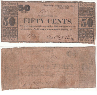 1840. 50c. FINE. MD.