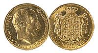 1913-17. Denmark. 20 Kroner. CBU.