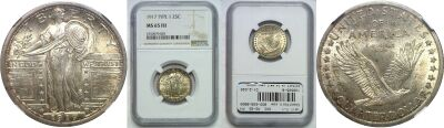 1917 T-1. NGC. MS-65. FH.