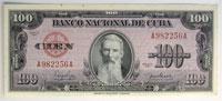 1950. Cuba. 100 Pesos. CCU. P-82a.