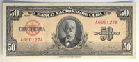 1950. Cuba. 50 Pesos. CCU. P-81a.