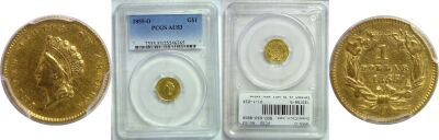 1855-O. PCGS. AU-53.